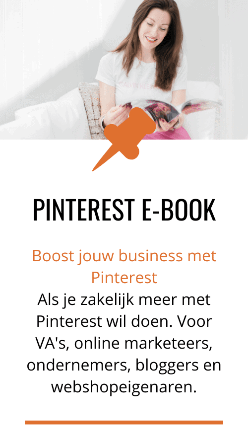 "Pinterest e-book ""boost jouw business met Pinterest"""