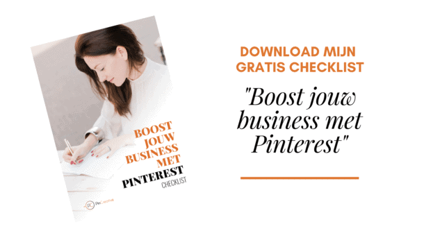 Checklist downloaden boost jouw business met Pinterest