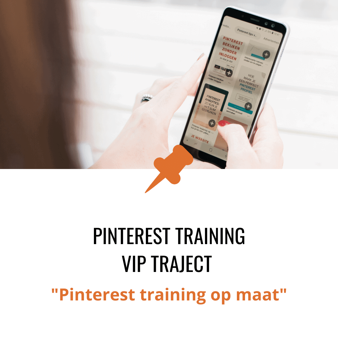 Pinterest training vip traject