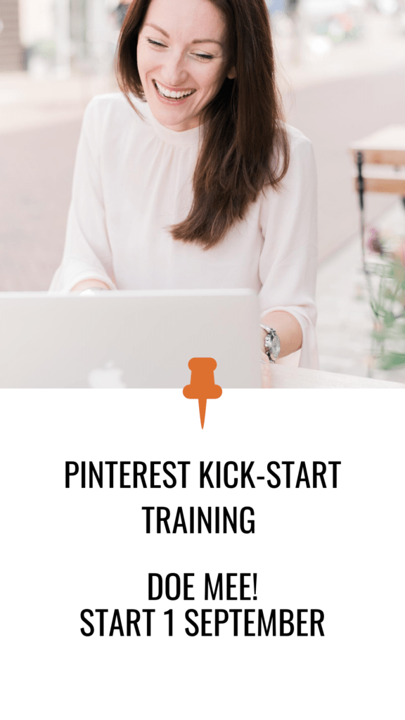 Doe mee aan de Pinterest kick-start training